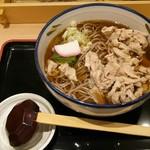 南部家敷 - 料理写真:(温)肉そば(大盛り)