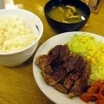 松屋 - 豚テキ定食630円