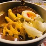 スープカリー専門店 元祖 札幌ドミニカ - 炙りチーズをトッピング!