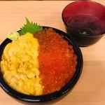 海鮮処 魚屋の台所 - 生うにイクラ丼(4,860円)