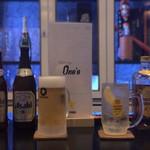 Sports Bar One's - 生ビールサッポロ黒ラベル 角ハイボール アサヒ瓶ビール ノンアルコールビールアサヒドライゼロ
