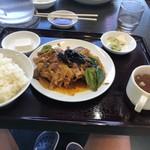 南京亭 - ナスと肉の味噌炒め定食