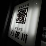 八沢川 - 看板