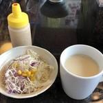 肉御殿 - 2019年8月17日  サラダ・スープ・ドレッシング