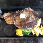 肉御殿 - 2019年8月17日  牛リブロースステーキ350g 1,980円