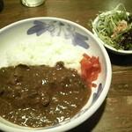 珈琲香舗カワシマ - 小カレー(700円) サラダも付いてます。♪