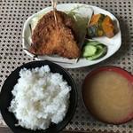 やまびこ支店 - アジフライ定食800円税込