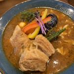 サッポロ スープカレー ジャック - 豚角煮ベジカレー♡¥1230(税込) (ベジタブル基本野菜+豚角煮)