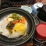 おひつごはん四六時中 - 海鮮炙り飯(ホタテ)