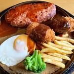 ピノッキオ - 照り焼きハンバーグ クリームコロッケ
