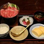 十二段家 - 牛すき鍋定食