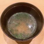 鮨 由う - 味噌汁