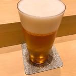 鮨 由う - 生ビール