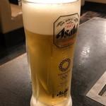 お好み焼き いしん - 生ビール中518円