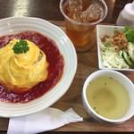 かなたまキッチン - 料理写真:特製オムライス 見た瞬間 わぁ〜!ってなった