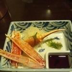 Sapporokaniya - かにの醍醐味、お刺身です。あまー