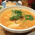 パパイヤリーフ - ココナッツミルクのスープ麺