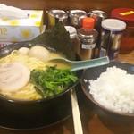 横浜家系ラーメン 綱島商店 - 味玉ラーメン+ライス