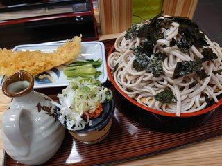 青葉 直利庵 - 天大ざる(¥1,200)