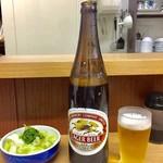 吾妻家 - 大瓶ビール  750円