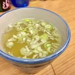 吾妻家 - 半コース  3,200円 鶏スープ