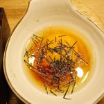 鯛めし魚然 - 宇和島鯛めし膳(¥980)のダシ汁