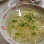 万里長城 - チキンスープのかき汁