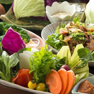 地元川崎市宮前産の朝採れ産直野菜を使った逸品