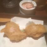 天ぷら海鮮 五福 - 鶏天 素揚げ¥170。塩でいただきました!