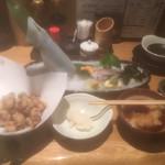 天ぷら海鮮 五福 - 大根おろしにつけるとサッパリとなって良かった〜