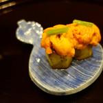114320588 - 田楽茄子と雲丹