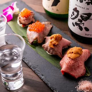 ◆大人気!肉寿司コース◆最高ランクの上質肉