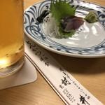 とんかつ村井 - まずはの生ビールにシメサバ