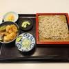 まつ屋 - 料理写真:小えび天丼とざるそば セット