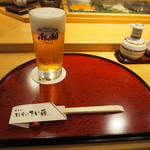 すし屋のさい藤 - 生ビール