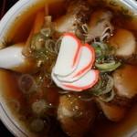 中華そば大石家 - チャーシュー麺 真上から撮影