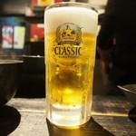 ジンギスカン 十鉄 - 生ビール