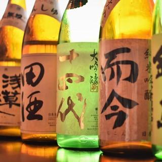 日本全国から取り寄せた銘酒がズラリ!