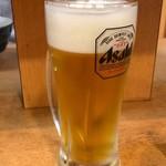 汐灯 - 生ビール中ジョッキ380円