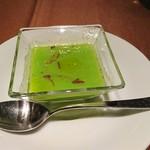 114351666 - 枝豆の冷製スープ。