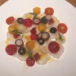 BISTRO INOCCHI - ●生タコのカルパッチョ                カラフルトマトとレモン生姜       980円