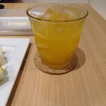 イタガキ フルーツ カフェ - 本日の生ジュース デコポンでした
