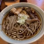嘉門次小屋 - 山菜そばヽ( ゚.д゚ )ノ¥800円˚✧₊⁎⁺˳✧༚