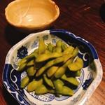 とっくり - 枝豆の燻製