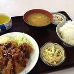 宇部市役所食堂 - 料理写真:チキンカツ定食400円♪