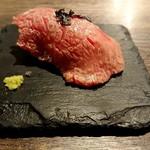 Teppanyakigurou - 黒毛和牛の炙り寿司