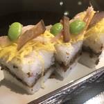 114365127 - 鰯とそぼろのばら寿司。本日のばら寿司は鰯のそぼろなのでちょっと味わいが異なるが美味しいですね。