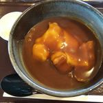 島田屋 - 料理写真:チーズカレーうどん(少・ミックス)