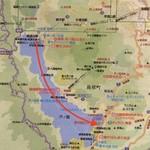 114369600 - モーターボートの航路