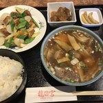 龍宮 - 料理写真:五目汁そばセット=980円